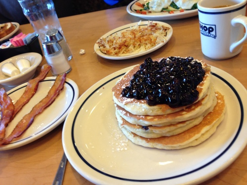 Breakfast at IHOP on my first day...