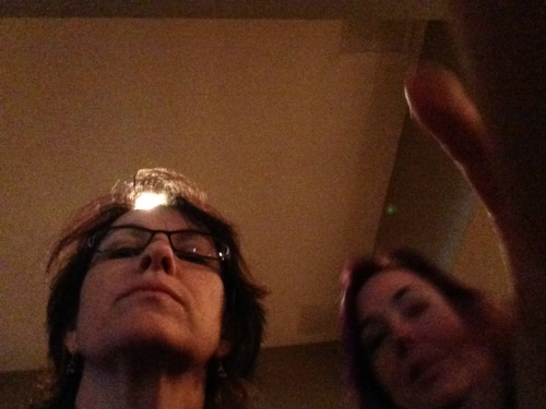 While Valerie and I couldn't quite figure out what the hell I was doing with my phone (We were at the bar after all.)